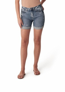 Silver Jeans Co. Women's Sure Thing High Rise Long Jean Shorts  W