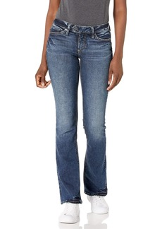 Silver Jeans Co. Women's Tuesday Low Rise Slim Bootcut Jeans