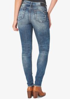 Silver Jeans Elyse Medium Blue Wash Skinny Jeans