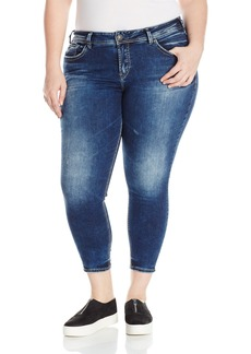 Silver Jeans Co. Women's Plus Size Avery Curvy Fit High Rise Ankle Skinny Jeans  x27