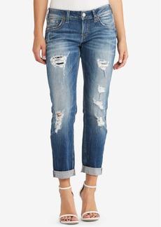 Silver Jeans Sam Ripped Boyfriend Jeans