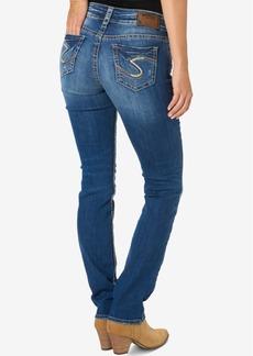 Silver Jeans Suki Medium Blue Wash Straight-Leg Jeans