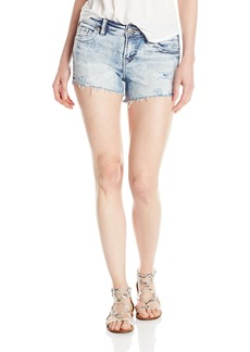 Silver Jeans Women's Aiko High Rise Acid Wash Denim Short