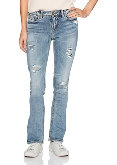 Silver Jeans Women's Aiko Mid-Rise Slim Bootcut Jeans  24X31