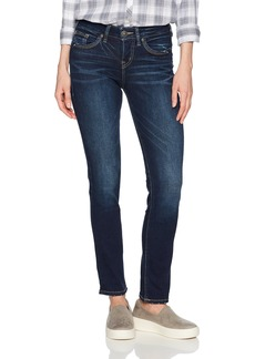 Silver Jeans Women's Avery Curvy Fit High-Rise Straight Leg Jeans  27X32