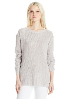 Silver Jeans Women's Boxy Sweater with Open Knit Details  L
