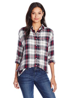 Silver Jeans Women's Boyfriend Shirt with Side Slit  S
