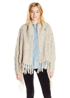 Silver Jeans Women's Chunky Cardigan Sweater With Tassel Trim