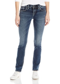Silver Jeans Women's Co Elyse Relaxed Fit Mid Rise Straight Leg