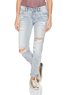 Silver Jeans Women's Delancey Slim-Fit Boyfriend Jeans