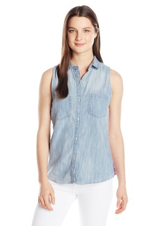 Silver Jeans Women's Denim Tank With Plaid