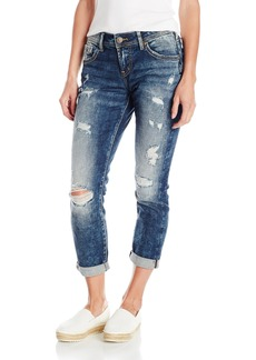 Silver Jeans Women's Destructed Boyfriend Jean