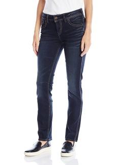 Silver Jeans Women's Elyse Mid Rise Straight Leg Jean Indigo 25x32