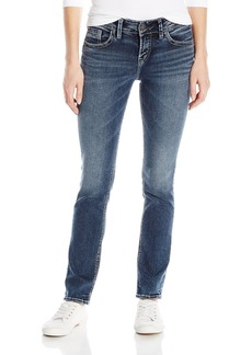 Silver Jeans Women's Elyse Mid Rise Straight Leg Jean  28x34