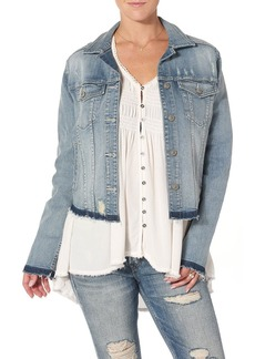 Silver Jeans Women's Ladies Denim Jacket With Let Down Hem  M