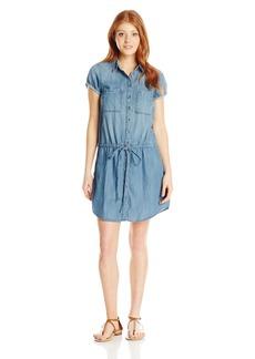 Silver Jeans Women's Light Weight Short Sleeve Denim Dress