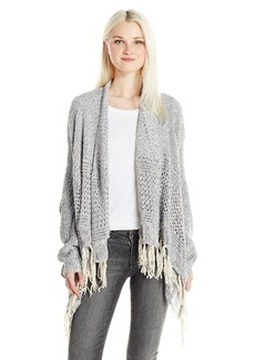 Silver Jeans Women's Longsleeve Cardi Coat with Fringe  EXTRA SMALL