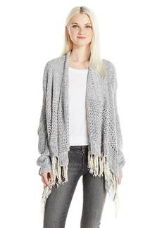Silver Jeans Women's Longsleeve Cardi Coat with Fringe  L