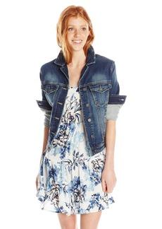 Silver Jeans Women's ong Sleeve Joga Denim Jacket  arge