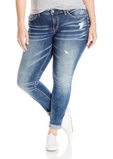 Silver Jeans Women's Plus Size Cloud Wash Girlfriend Jean Indigo 24