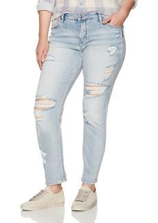 Silver Jeans Women's Plus Size Delancey Slim-fit Boyfriend Jeans