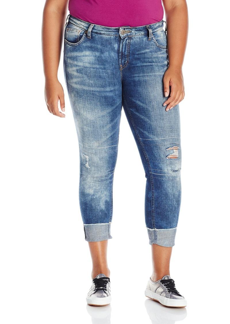 Silver Jeans Women's Plus Size Destructed Girlfriend Jean  22