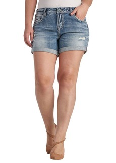 Silver Jeans Women's Plus Size Ladies Sam Boyfriend-Fit Short