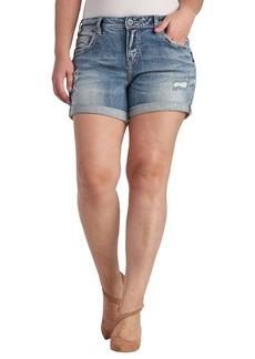 Silver Jeans Women's Plus Size Ladies Sam Boyfriend-Fit Short  24