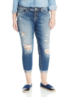 Silver Jeans Co. Women's Plus Size Suki Curvy Fit Mid Rise Skinny Crop  24