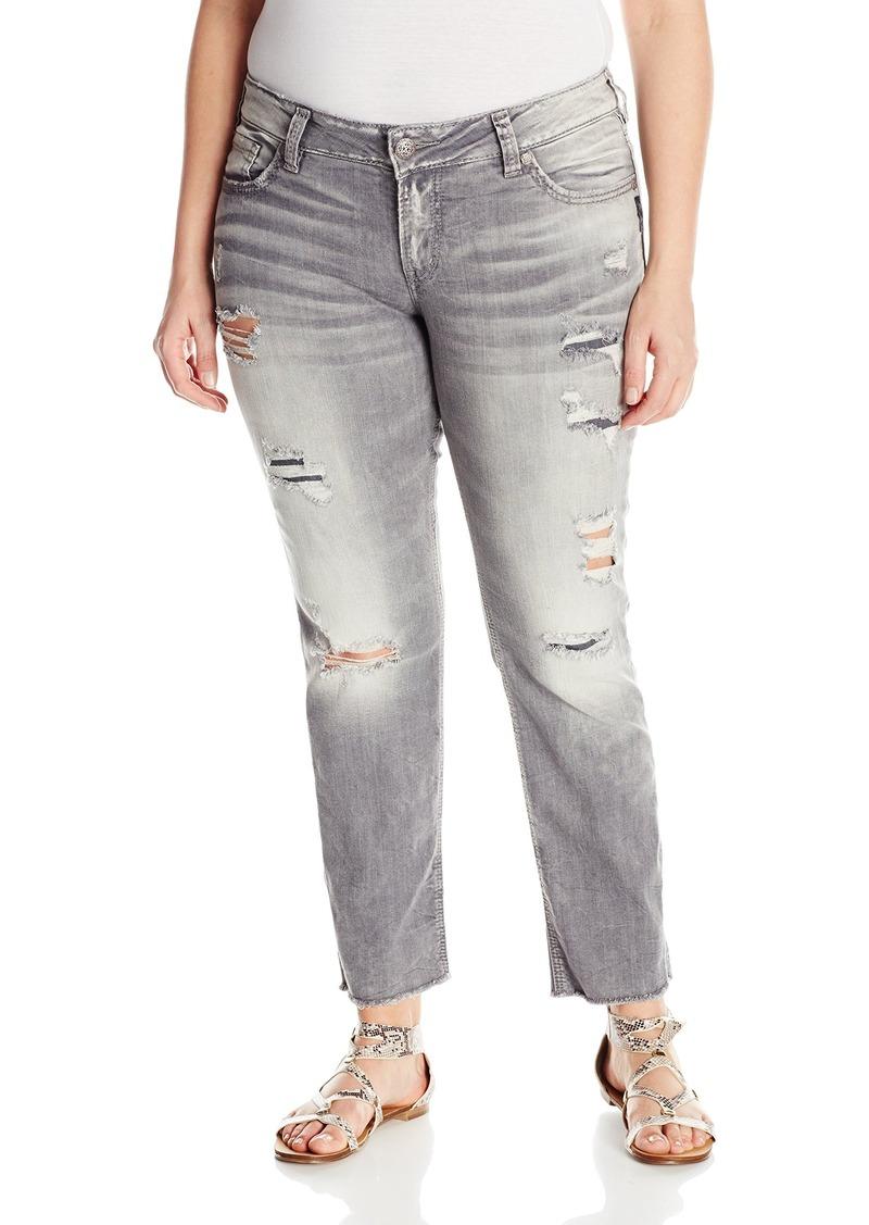 1c4ea591 Silver Jeans Silver Jeans Women's Plus Size Suki Mid Grey Ankle Slim ...