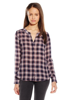 Silver Jeans Women's Relaxed Fit Button Front Blouse