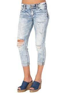 Silver Jeans Women's Sam Boyfriend-Fit Mid-Rise Capri