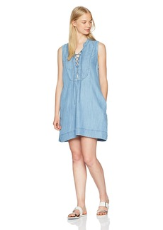 Silver Jeans Women's Shany Lace-up Denim Dress  M