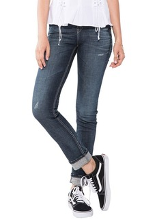 Silver Jeans Women's Suki Curvy Fit Mid-Rise Ankle Slim Jeans with Cuff