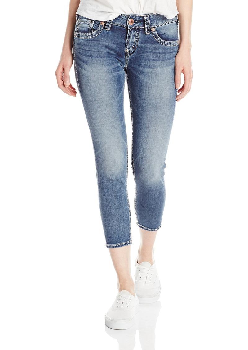 Silver Jeans Women's Suki Midrise Capri Bold Joga Jean