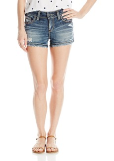 Silver Jeans Women's Suki Midrise Rise Super Stretch Denim Short