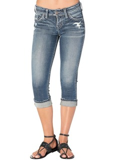 Silver Jeans Women's Co Suki Curvy Fit Mid Rise Capri