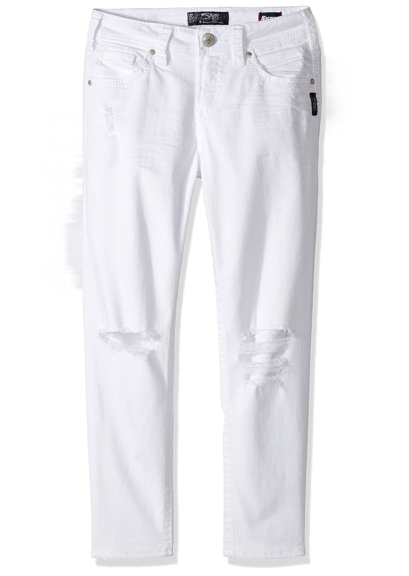 3bd47e84 Silver Jeans Women's Suki Perfectly Curvy-Fit Mid-Rise Skinny Crop-Leg White