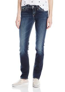 Silver Jeans Co. Women's Suki Curvy Fit Mid Rise Straight Leg Jeans  24x30