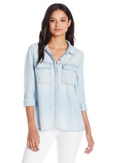 Silver Jeans Women's Utility Longsleeve Denim Shirt  S