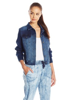 Silver Jeans Women's Vintage Joga Jacket with Knit Sleeve