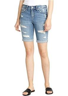 Silver Jeans Suki Mid-Rise Curvy Fit Bermuda Shorts L53940SGX237