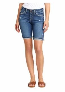 Silver Jeans Suki Mid-Rise Curvy Fit Bermuda Shorts L53940SGX350