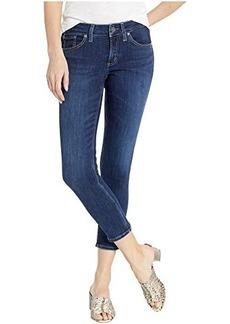Silver Jeans Suki Mid-Rise Curvy Fit Skinny Crop Jeans in Indigo L43969SSX329