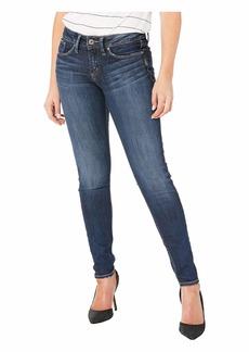 Silver Jeans Suki Mid-Rise Curvy Fit Skinny Jeans in Indigo L93023SSX317