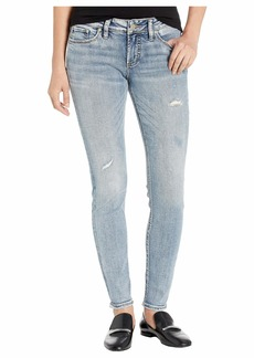 Silver Jeans Suki Mid-Rise Curvy Fit Skinny Leg Jeans in Indigo