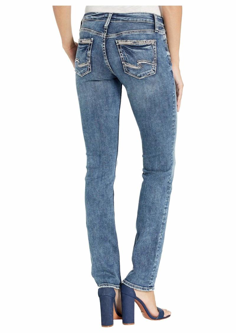 Silver Jeans Suki Mid-Rise Curvy Fit Straight Leg Jeans in Indigo L93413SSX293