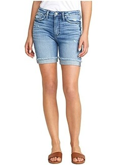 Silver Jeans Sure Thing High-Rise Long Shorts L28505SJL244