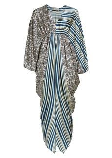 Silvia Tcherassi Arco Printed Stretch Silk Dress