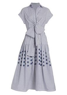 Silvia Tcherassi Buseto Tie-Front Shirtdress